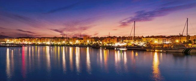 Puerto Garrucha de noche-2