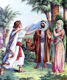 Isaac-recibe-a-Rebeca